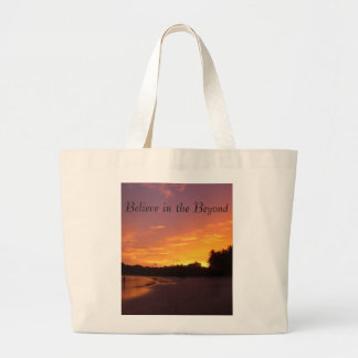 Believe in the Beyond Large Tote Bag