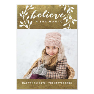 Believe in the Magic | Gold Holiday Card