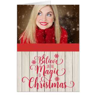 Believe in the Magic of Christmas Photo Christmas Card