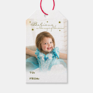 Believe in the magic pack of gift tags