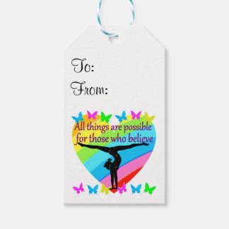BELIEVE IN THE POWER OF YOUR GYMNASTICS DREAMS GIFT TAGS