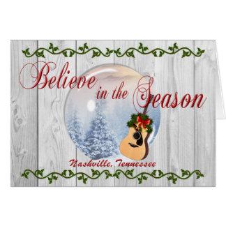 Believe in the Season Nashville Christmas Card