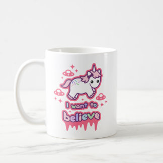 Believe in Unicorns and Aliens Coffee Mug