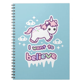 Believe in Unicorns and Aliens Notebooks