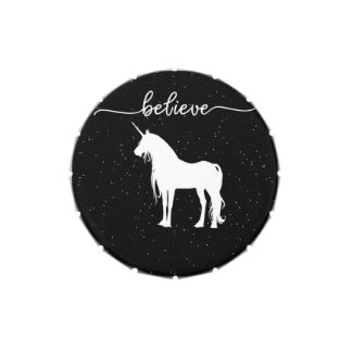 Believe in Unicorns Design Starry Sky Background