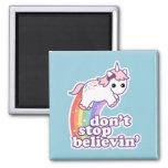 Believe in Unicorns Square Magnet