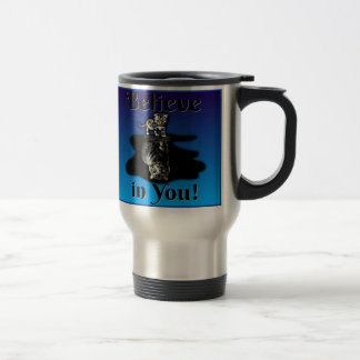 Believe in You! Kitten looking at reflection Mug