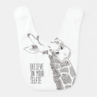 Believe in Your Selfie Baby Bib