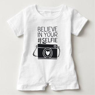 Believe in your #selfie baby romper
