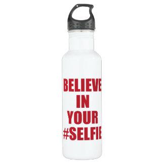 Believe In Your #Selfie Funny Novelty 710 Ml Water Bottle