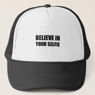 Believe In Your Selfie Trucker Hat