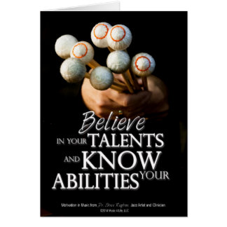 Believe in Your Talents Card