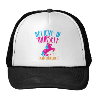 Believe in yourself (and unicorns) trucker hat