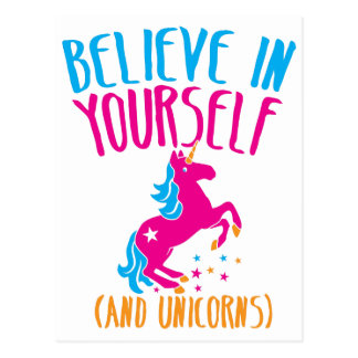Believe in yourself (and unicorns) postcard