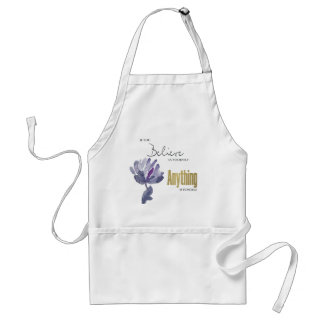 BELIEVE IN YOURSELF, ANYTHING POSSIBLE BLUE FLORAL STANDARD APRON