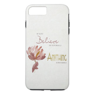 BELIEVE IN YOURSELF, ANYTHING POSSIBLE RUST FLORAL Case-Mate iPhone CASE
