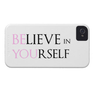Believe in Yourself - be You motivation quote meme iPhone 4 Cover