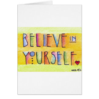 Believe in Yourself custom card