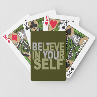 BELIEVE IN YOURSELF custom playing cards