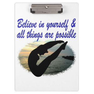 BELIEVE IN YOURSELF DIVER DREAMS CLIPBOARDS
