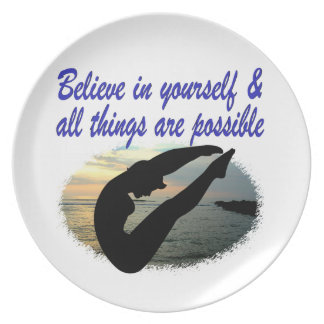 BELIEVE IN YOURSELF DIVER DREAMS PLATES