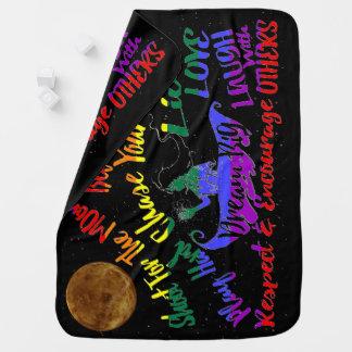 Believe in yourself Dream love baby blanket