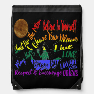 Believe in yourself Dream love drawstring bag