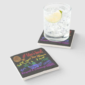 Believe in yourself Dream love drink coaster