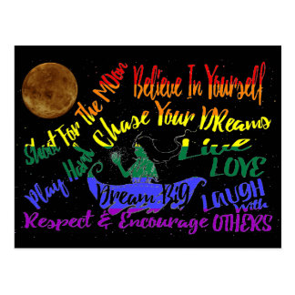 Believe in yourself Dream love Respect encourage Postcard