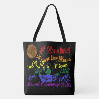 Believe in yourself Dream love tote bag