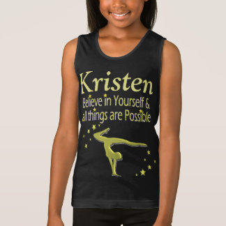 BELIEVE IN YOURSELF PERSONALIZED GYMNAST TANK TOP