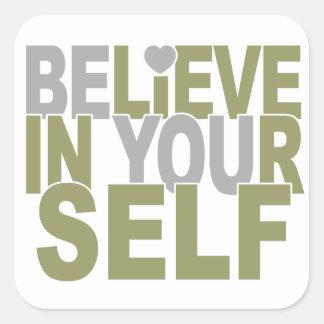 BELIEVE IN YOURSELF stickers