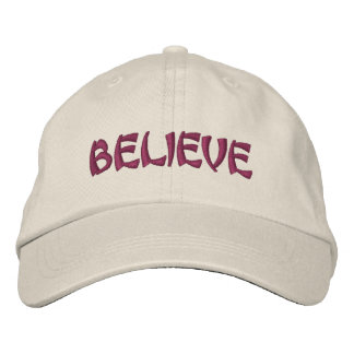 Believe Inspirational Embroidered Hat