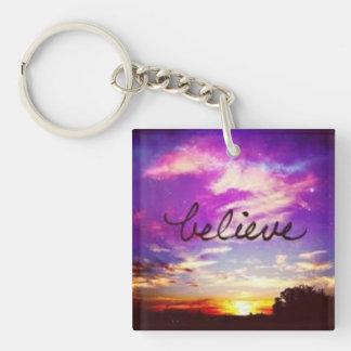 Believe Keychain