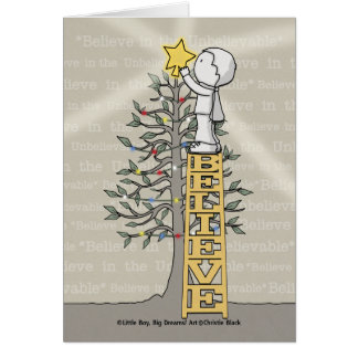 Believe Ladder -Christmas Tree Card