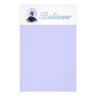 Believe Mermaid Stationery