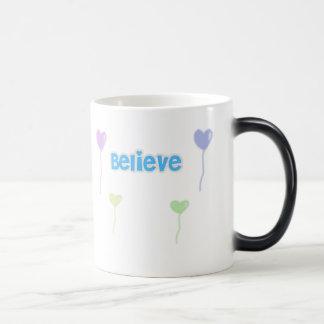 Believe morphing mug