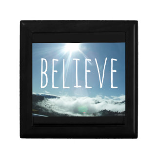 Believe Motivational Saying Gift Box