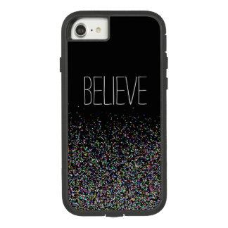 Believe ~ Multicolor Faux Glitter Case-Mate Tough Extreme iPhone 8/7 Case
