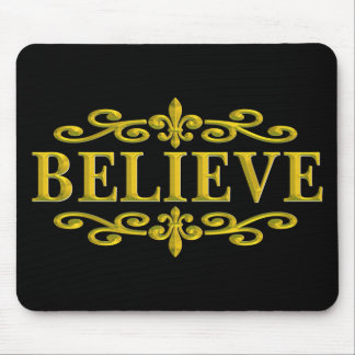 BELIEVE NEW ORLEANS GOLD MOUSE PAD