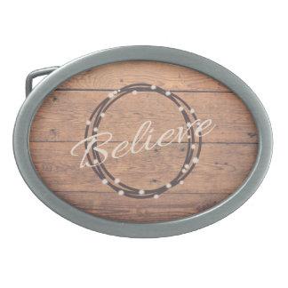 Believe Oval Belt Buckle