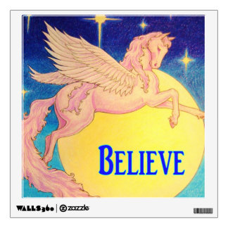 """Believe"" Pegasus Wall Sticker"