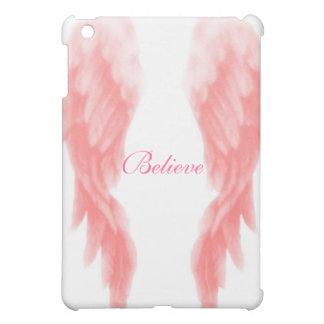 Believe Pink Angel Wings iPad Mini Case