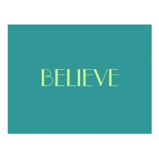BELIEVE POSTCARD