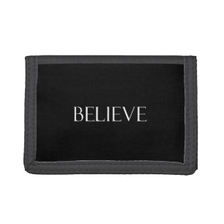 Believe Quotes Inspirational Faith Quote Trifold Wallet