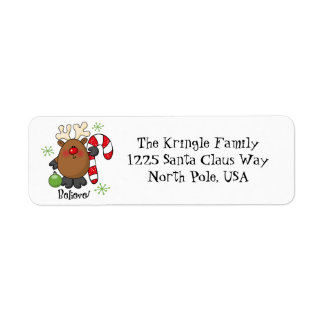Believe Reindeer Address Label