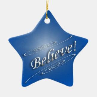 Believe Rejoice Christmas Ornament