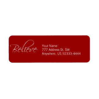 Believe Return Address Label