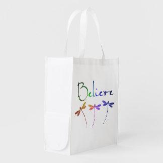 Believe Reusable Grocery Bag