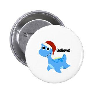Believe! Santa Nessie 2 Inch Round Button